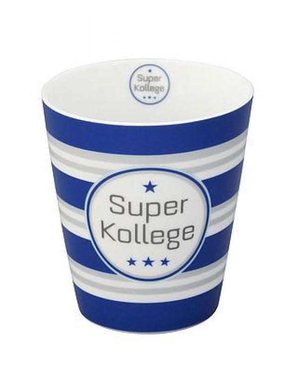 Krasilnikoff Happy Mug Super Kollege Trinkbecher ohne Henkel