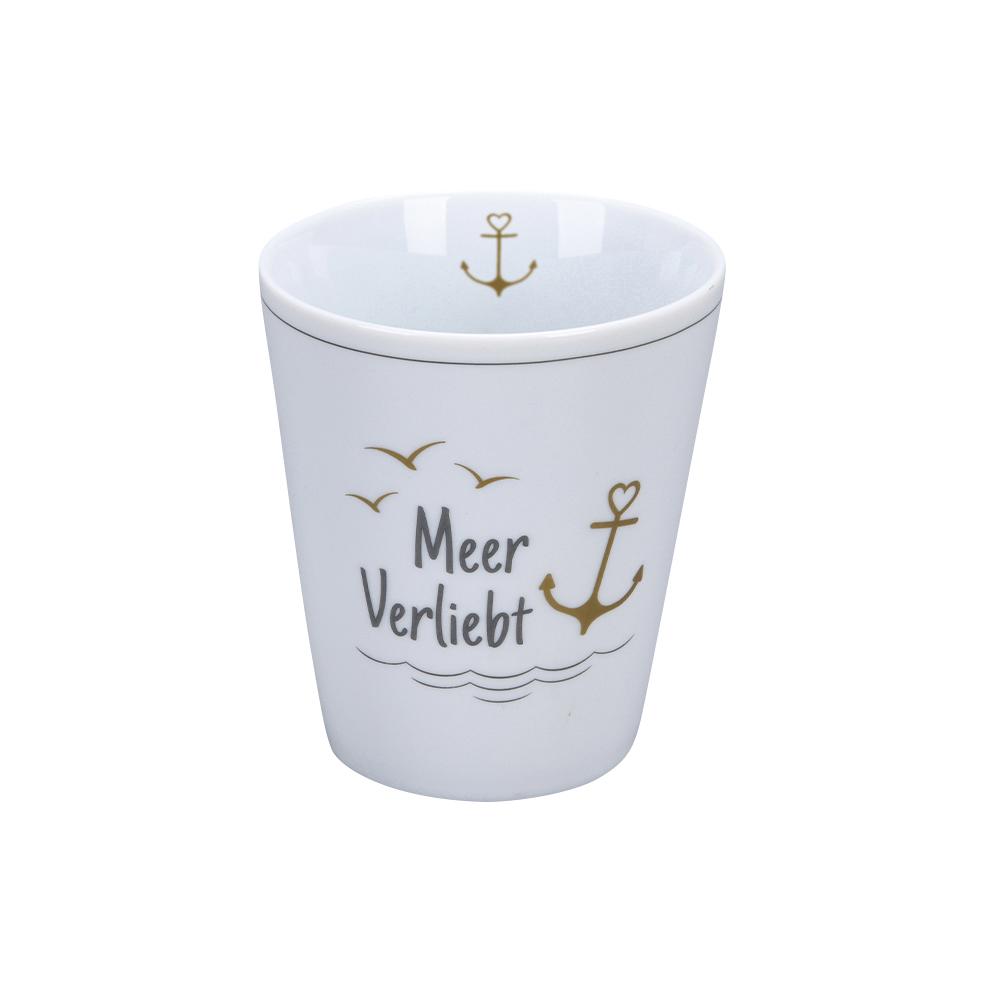 Krasilnikoff Happy Mug Meerverliebt Trinkbecher ohne Henkel