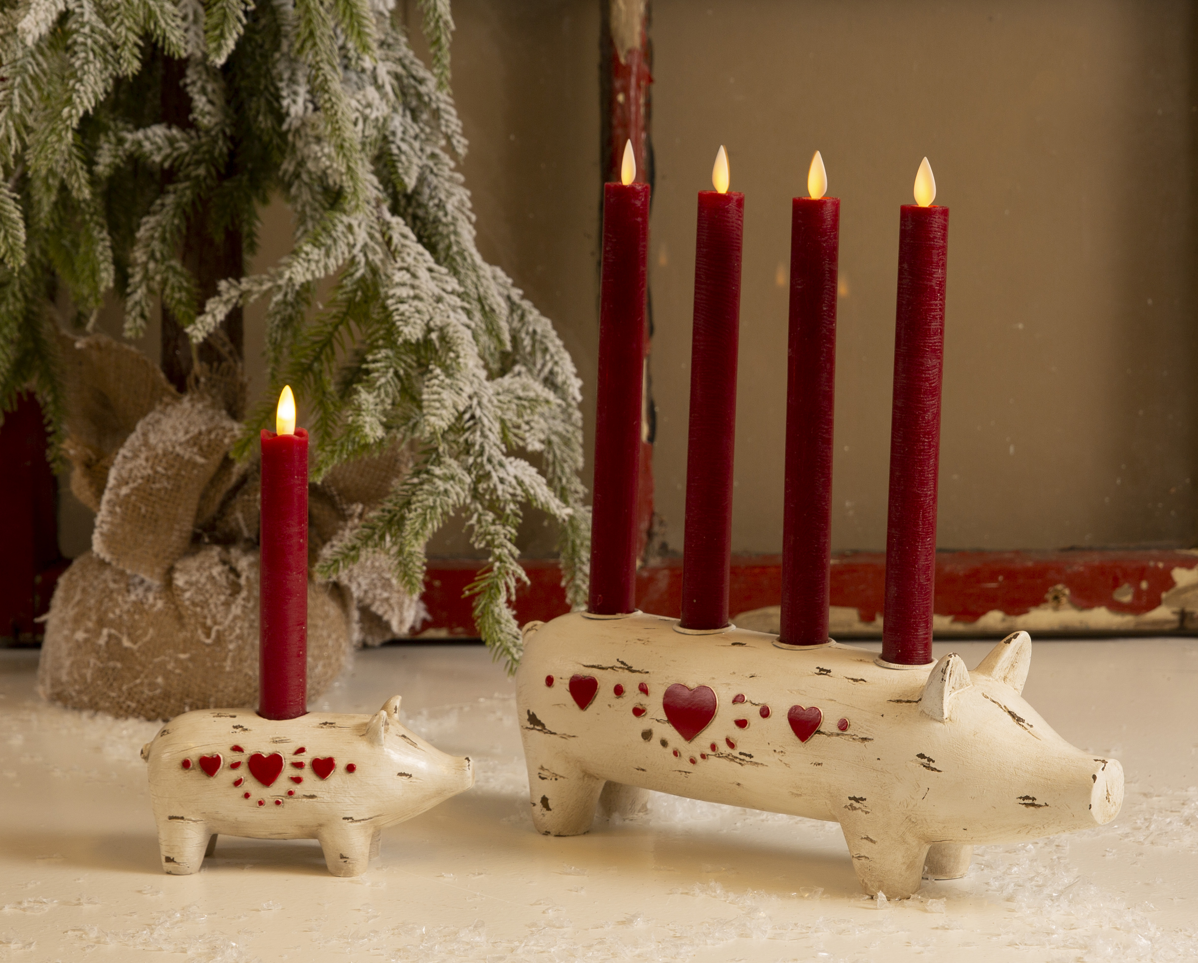 La Vida Schwein Kerzenhalter für eine Kerze