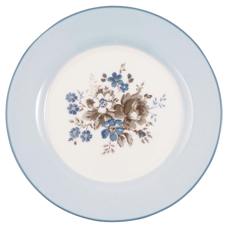 Greengate Frühstücksteller Marie dusty blue Limitierte Kollektion