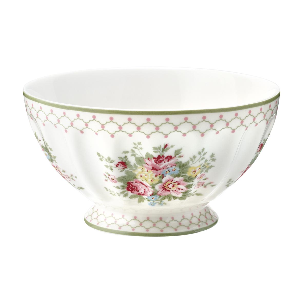 Greengate Schüssel Aurelia white French bowl XL