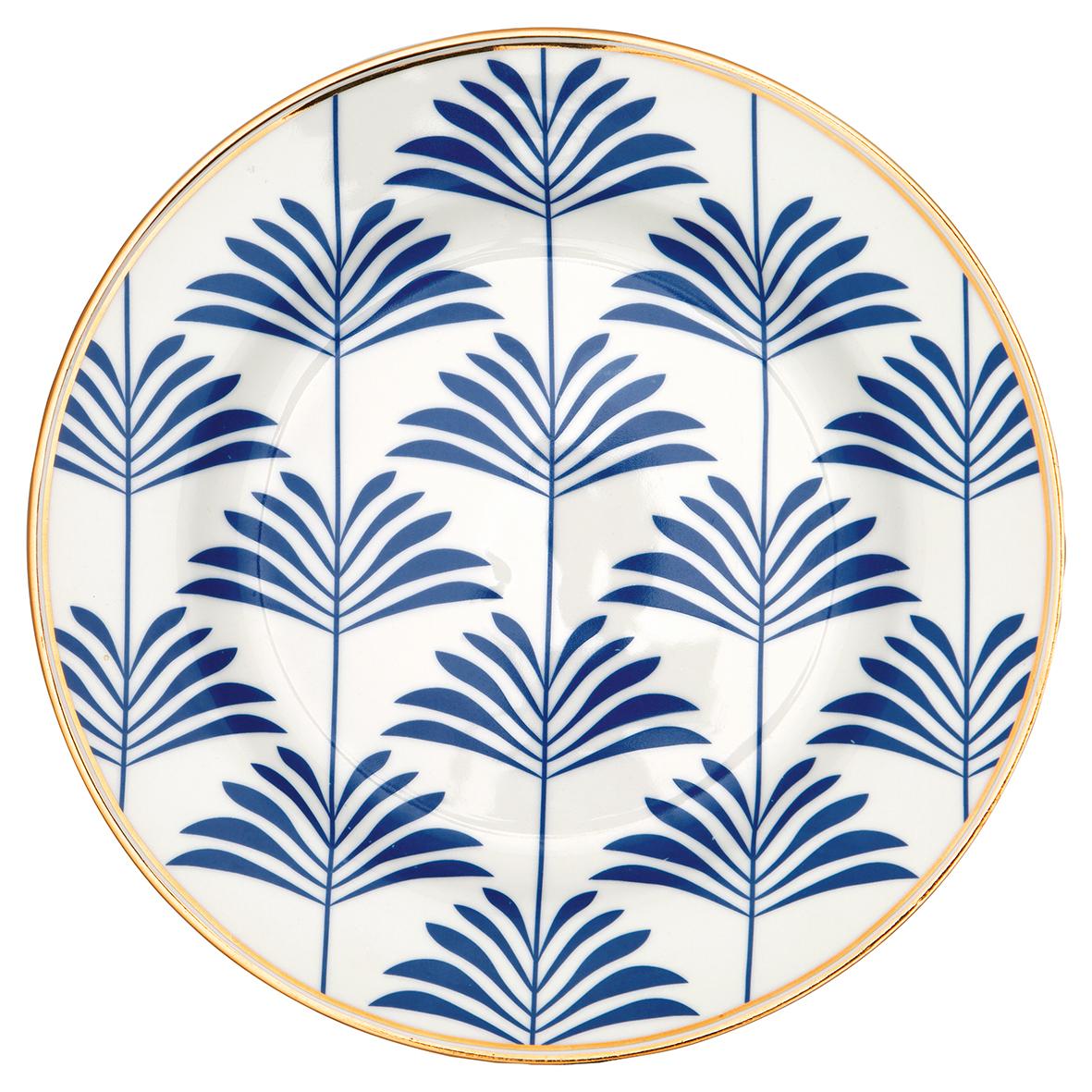 Greengate Frühstücksteller Maxime  blue Kollektion Gate noir