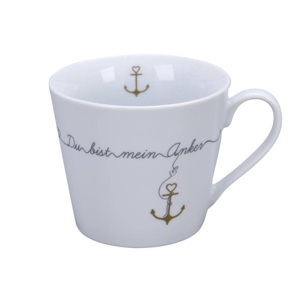 Krasilnikoff Happy Cup Du bist mein Anker Becher mit Henkel