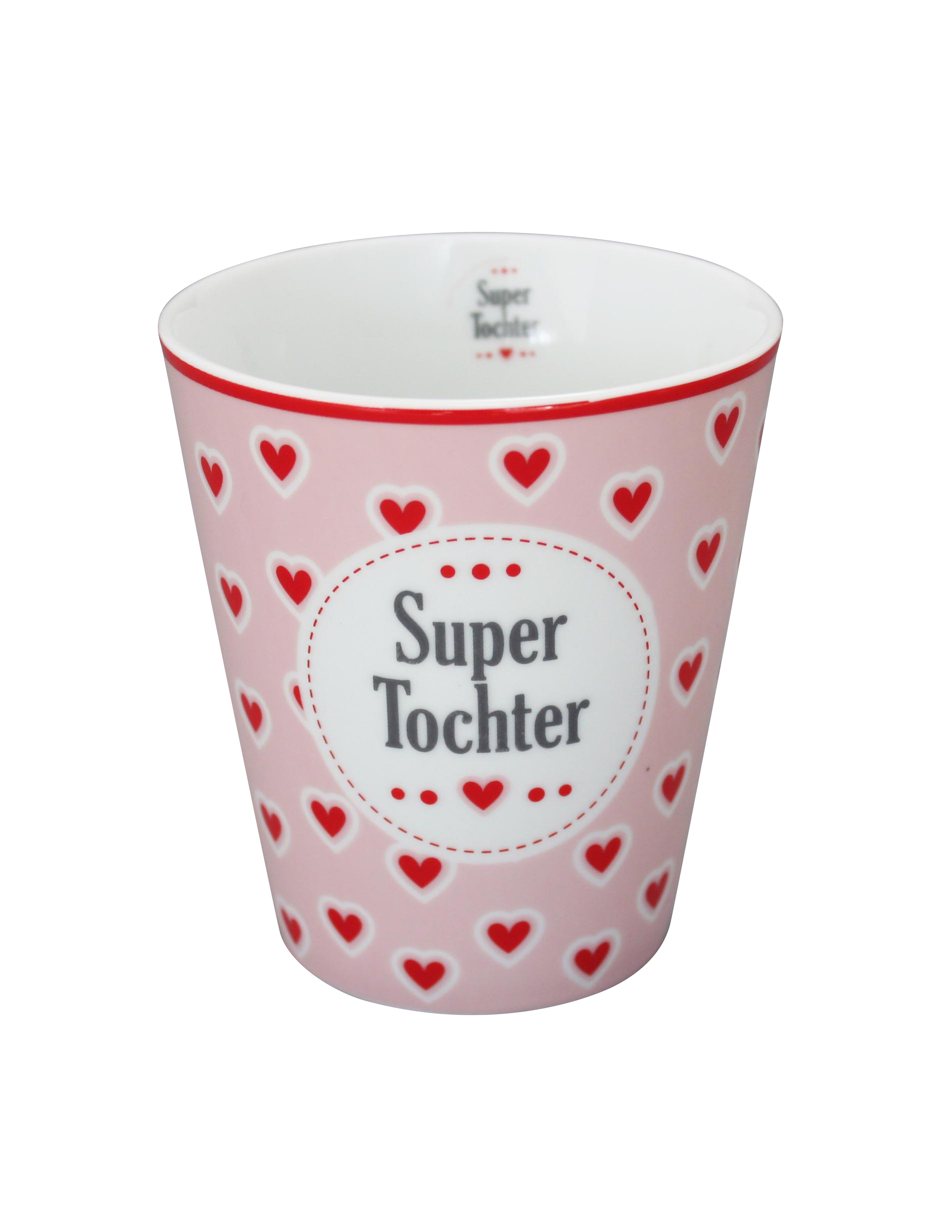 Krasilnikoff Happy Mug Super Tochter Trinkbecher ohne Henkel