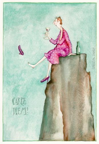"""Christina Thrän Postkarte """"Carpe diem"""""""