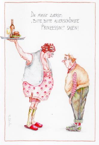 """Christina Thrän Postkarte """"Allerschönste Prinzessin"""""""