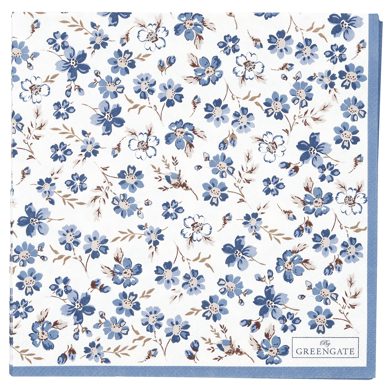 Greengate Papierservietten Marie petit dusty blue large Limitierte Kollektion