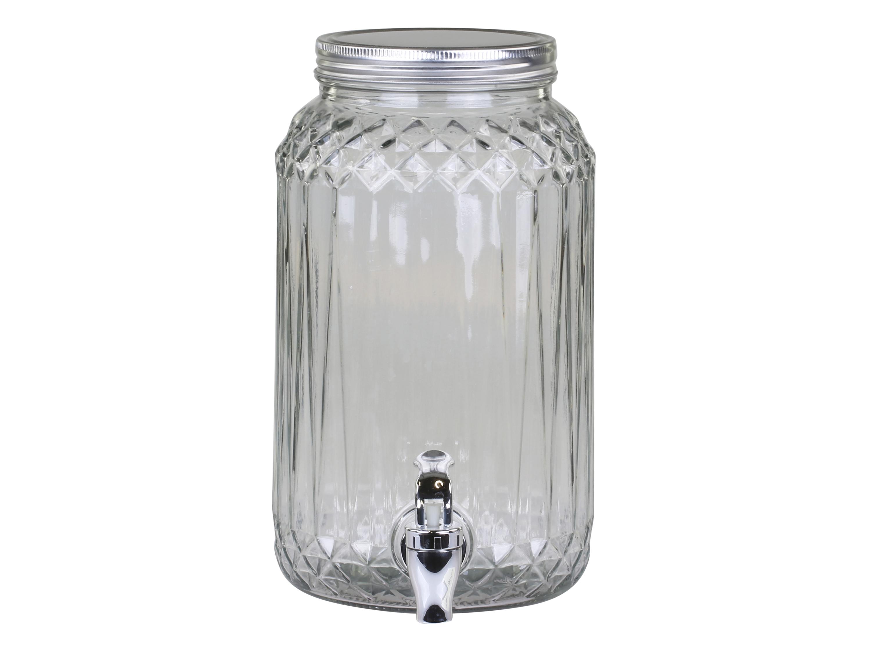 Chic Antique Getränkespender aus  Glas mit Zapfhahn 3,5 Liter