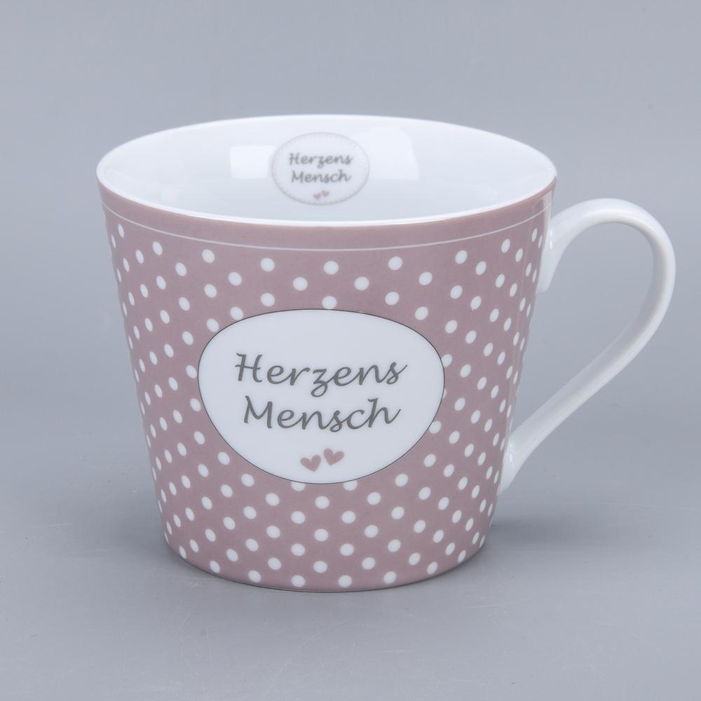 Krasilnikoff Happy Cup Herzens Mensch Trinkbecher mit Henkel