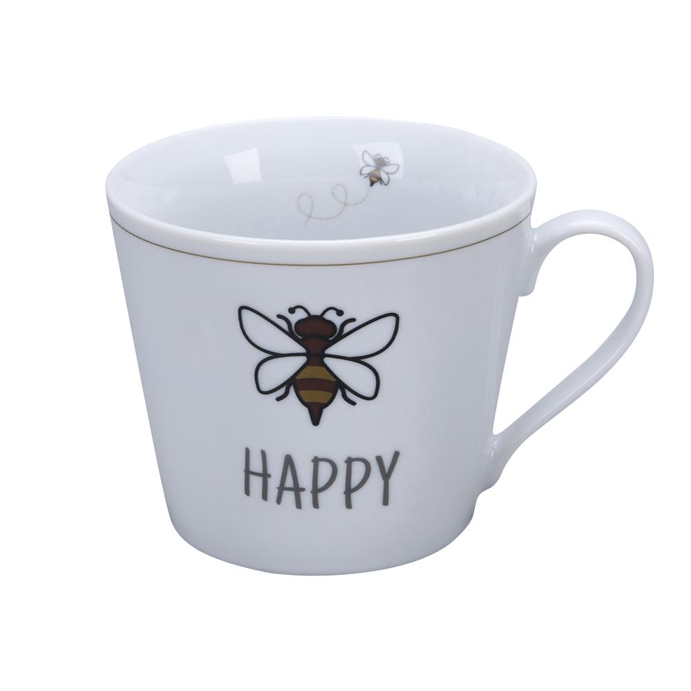 Krasilnikoff Happy Cup Bee Happy Becher mit Henkel