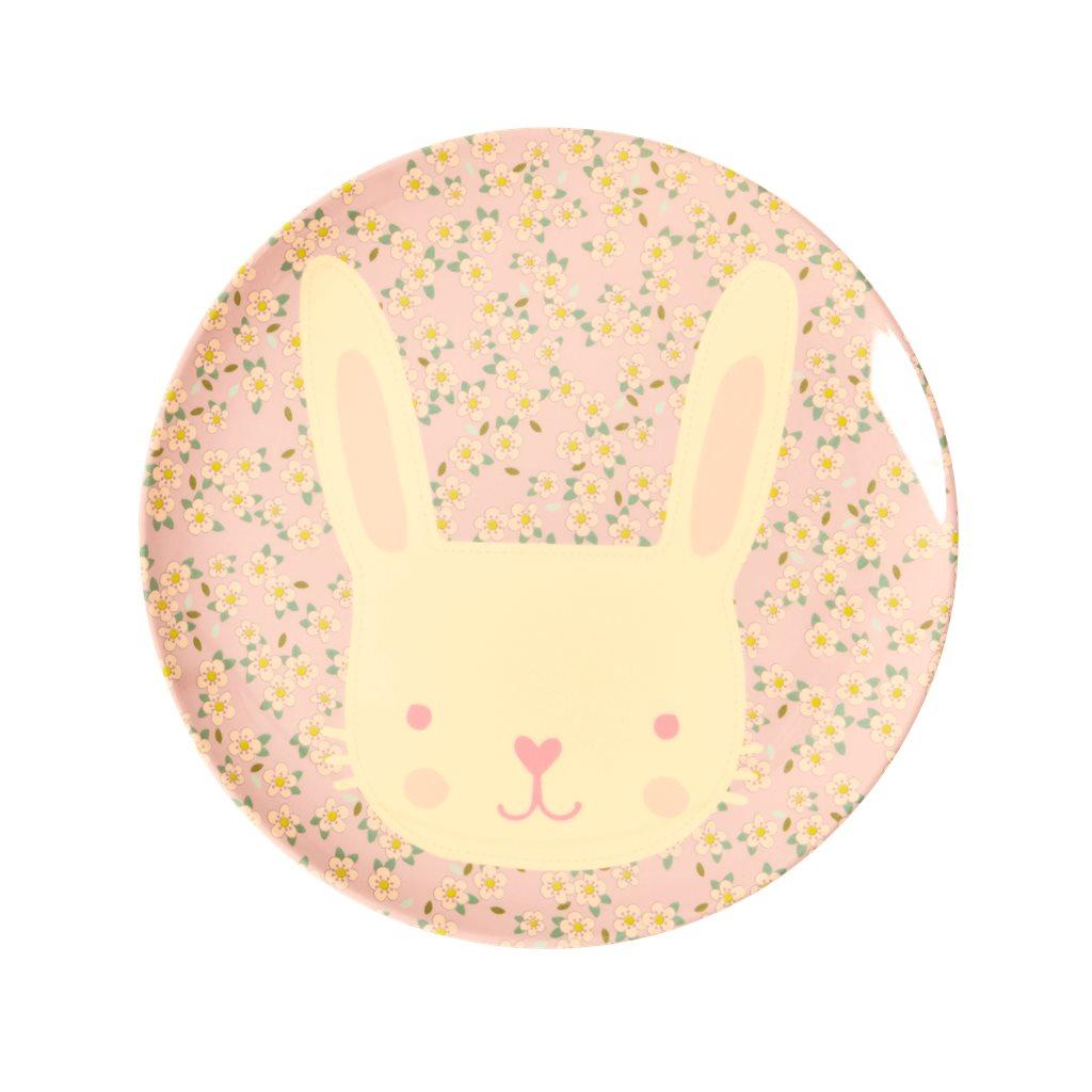 "RICE Melamin Kinderteller ""Bunny"""