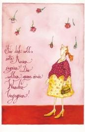 "Christina Thrän Postkarte ""Für dich soll es rote Rosen regnen"""