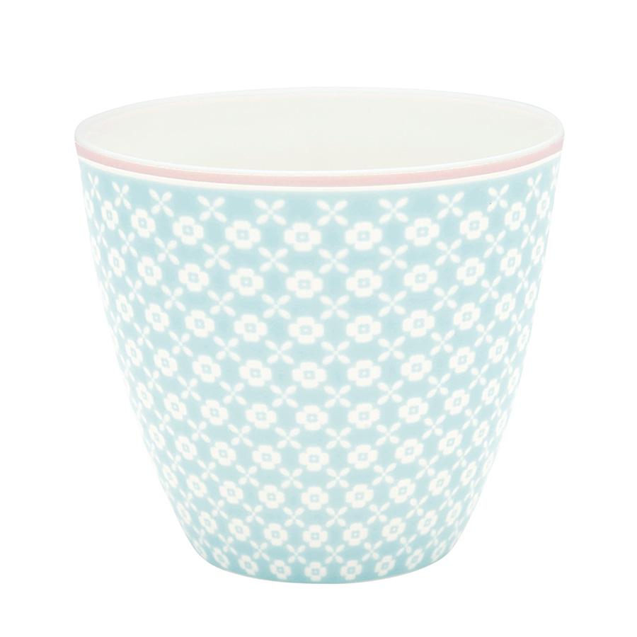 Greengate Lattecup Helle pale blue Becher ohne Henkel