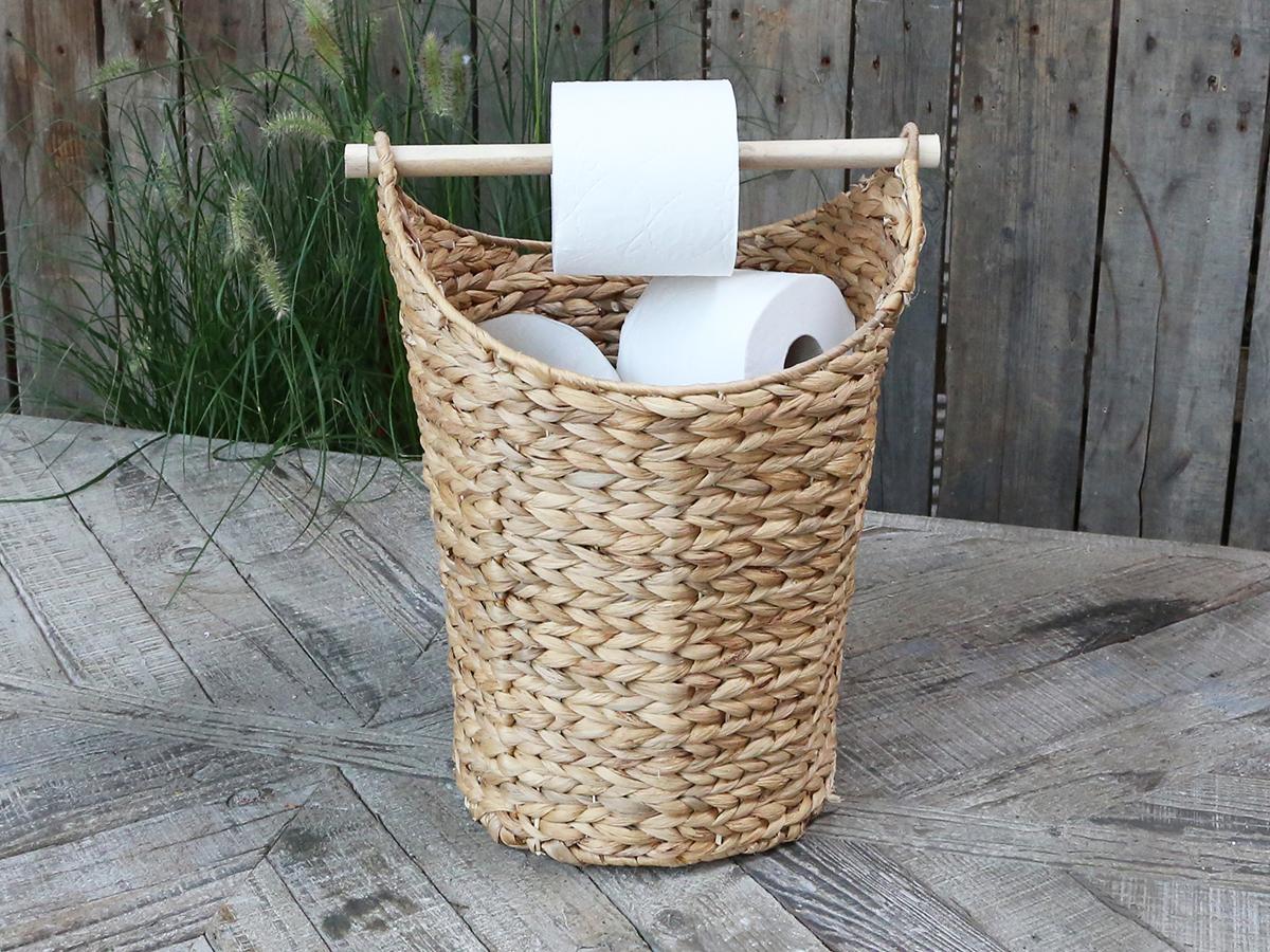 Chic Antique Korb mit Toilettenpapierhalter natur
