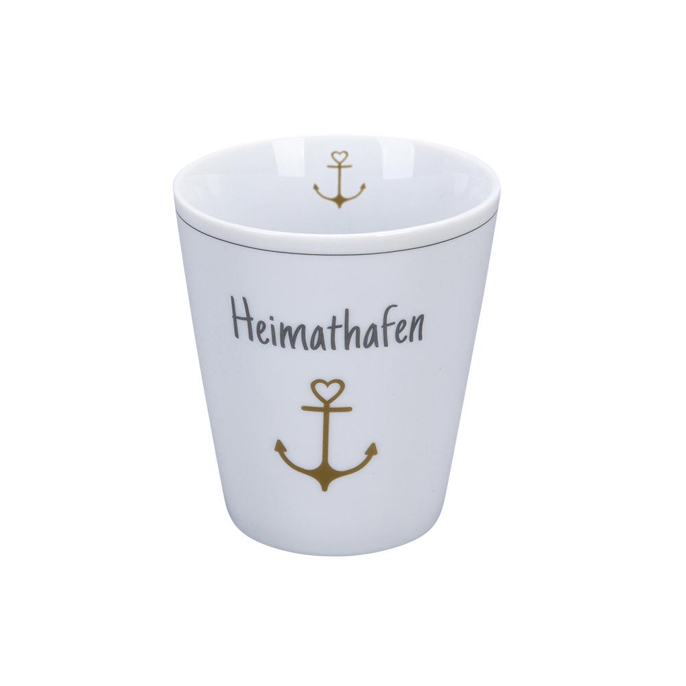 Krasilnikoff Happy Mug Heimathafen Trinkbecher ohne Henkel