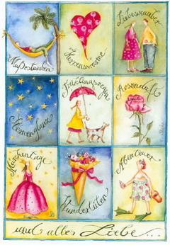 """Christina Thrän Postkarte """"Glückwunsch"""" multi"""