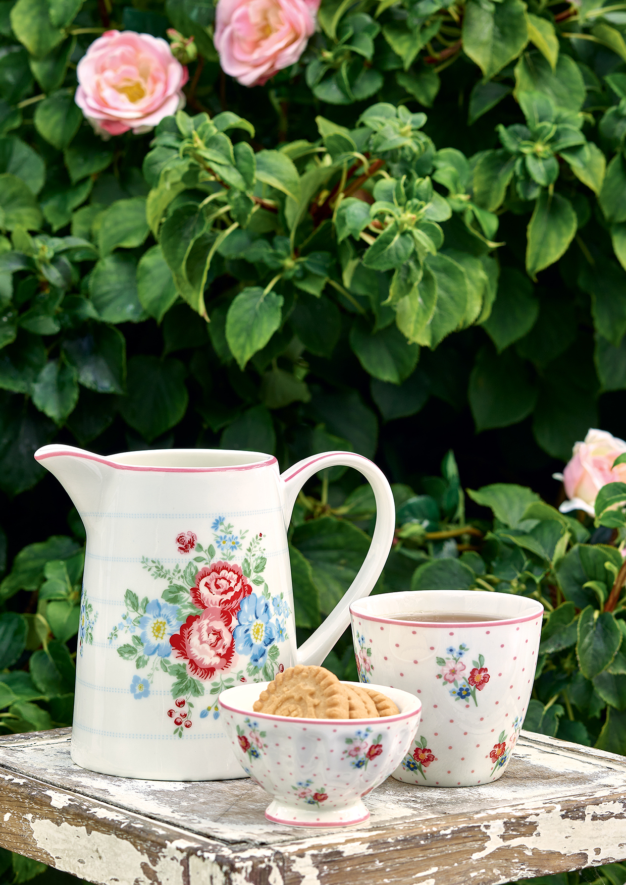 Greengate Teacup Evie white Becher