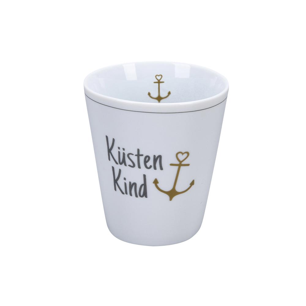 Krasilnikoff Happy Mug Küstenkind Trinkbecher ohne Henkel