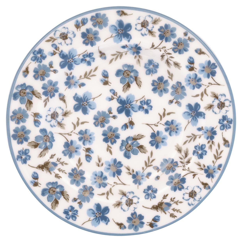 Greengate Tellerchen Marie petit dusty blue small plate Beilagenteller