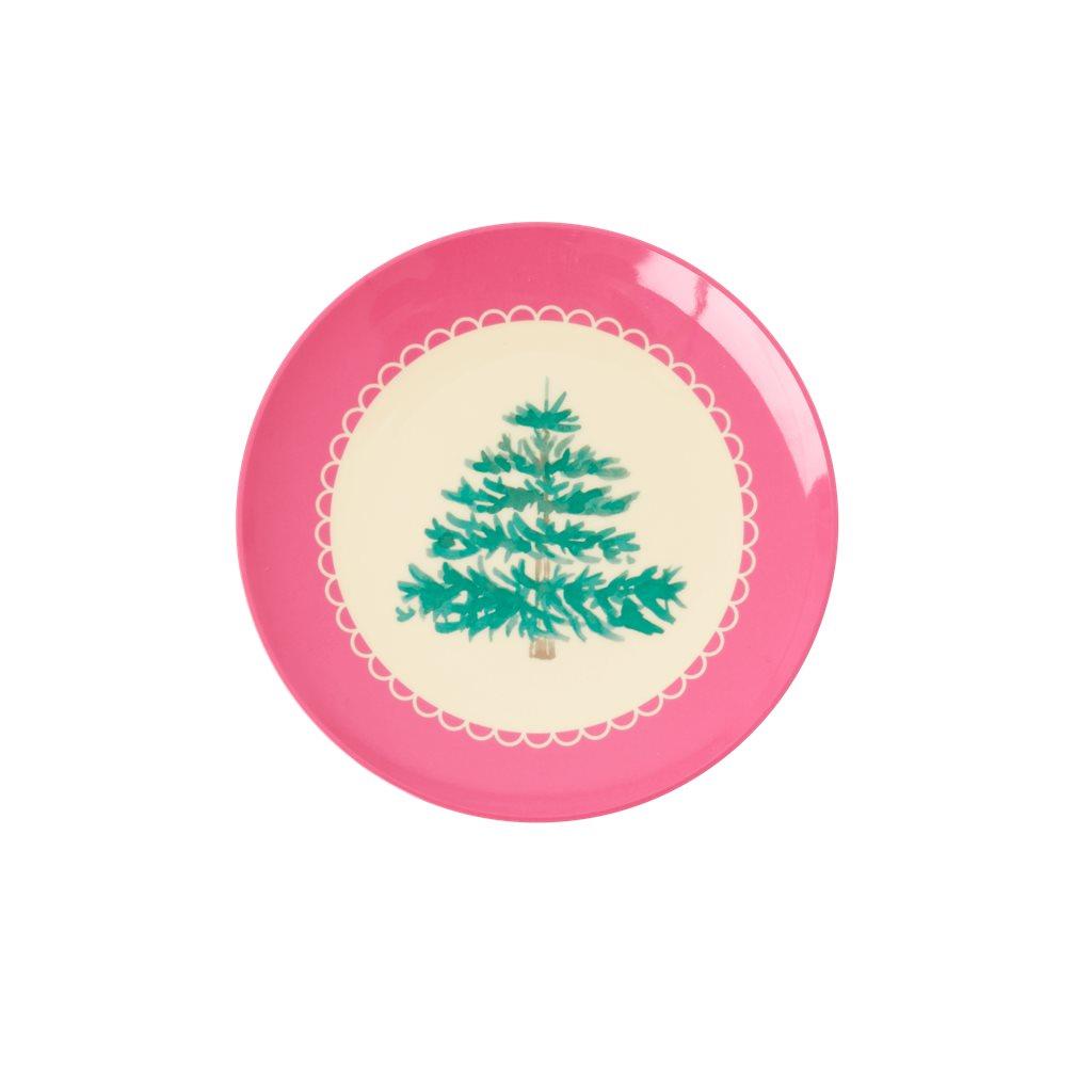 RICE Melaminteller Weihnachtbäumchen klein Dessertteller