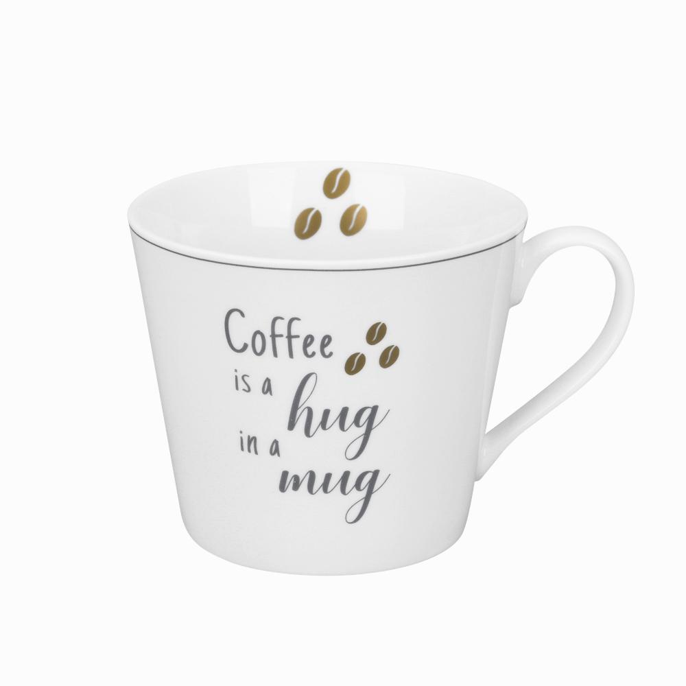 "Krasilnikoff Happy Becher ""Coffee is a hug in a mug"""