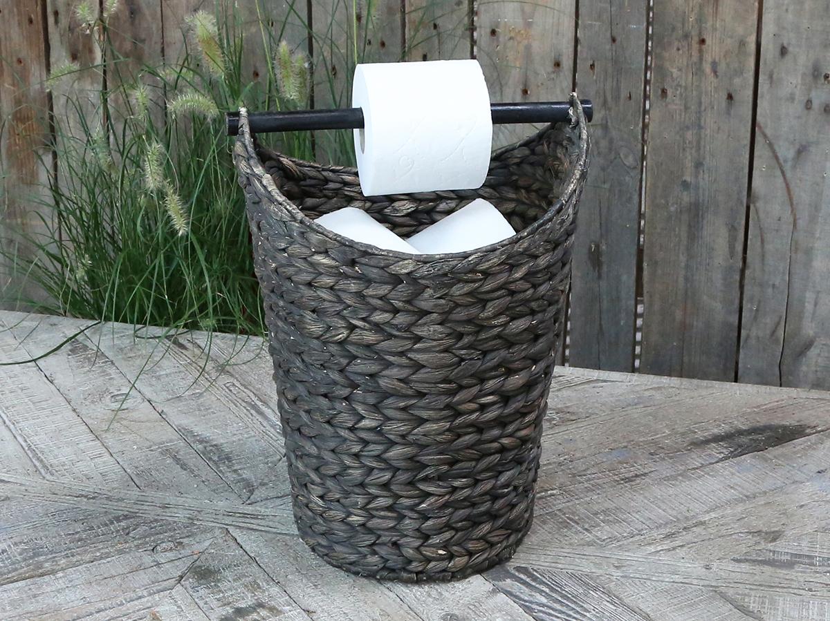 Chic Antique Korb mit Toilettenpapierhalter dunkel