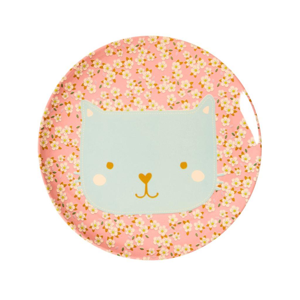 """RICE Melamin Teller """"Cat"""""""