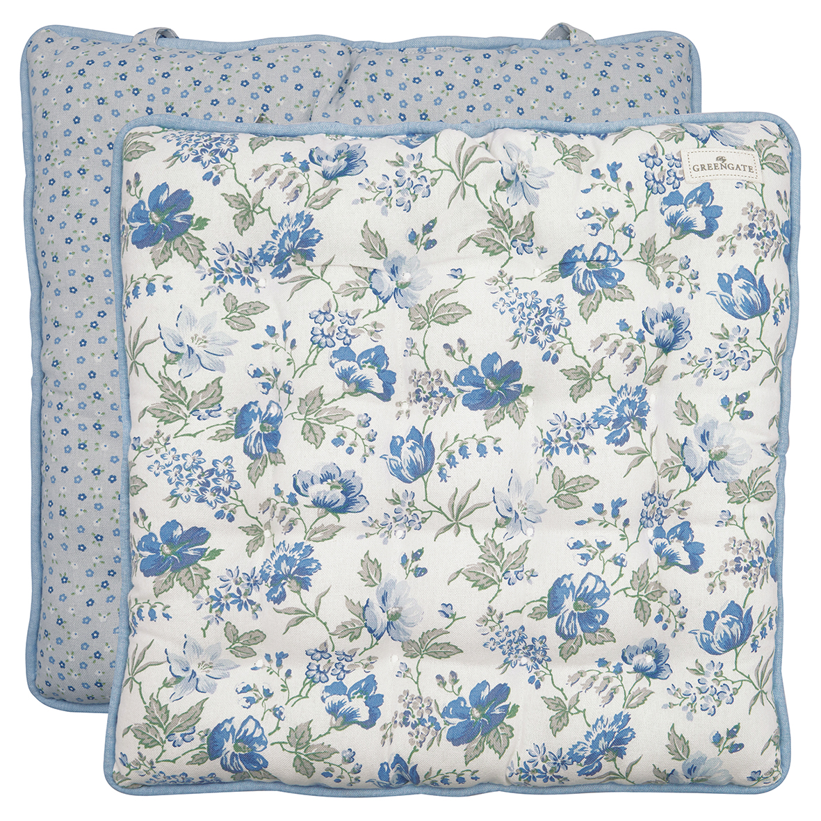 Greengate Sitzkissen Donna blue 40x40 cm