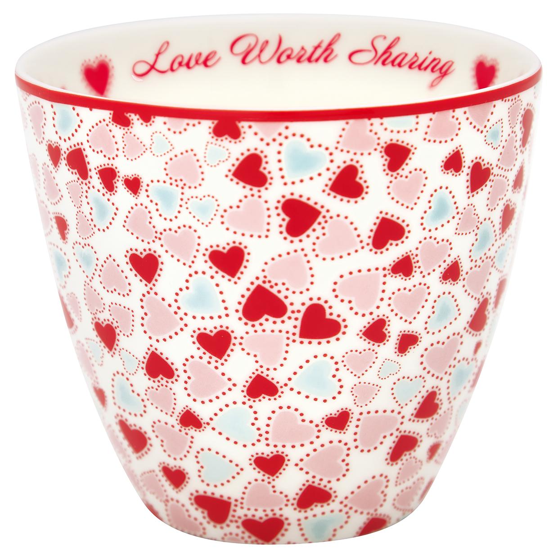 Greengate Lattecup Love white