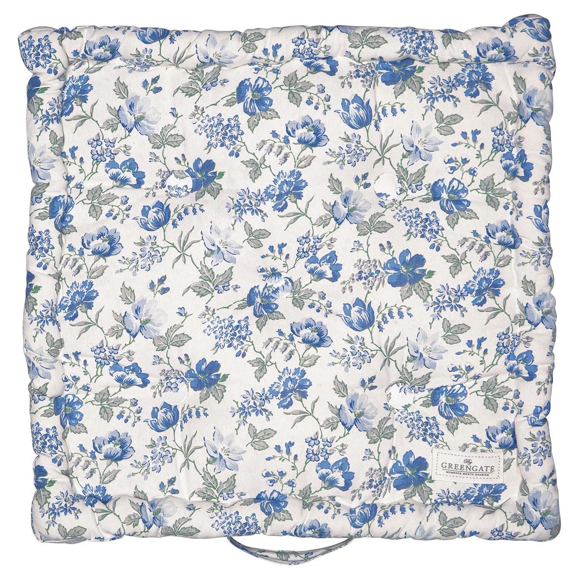 Greengate Sitzkissen Donna blue 50x50 cm (Matratzenkissen)