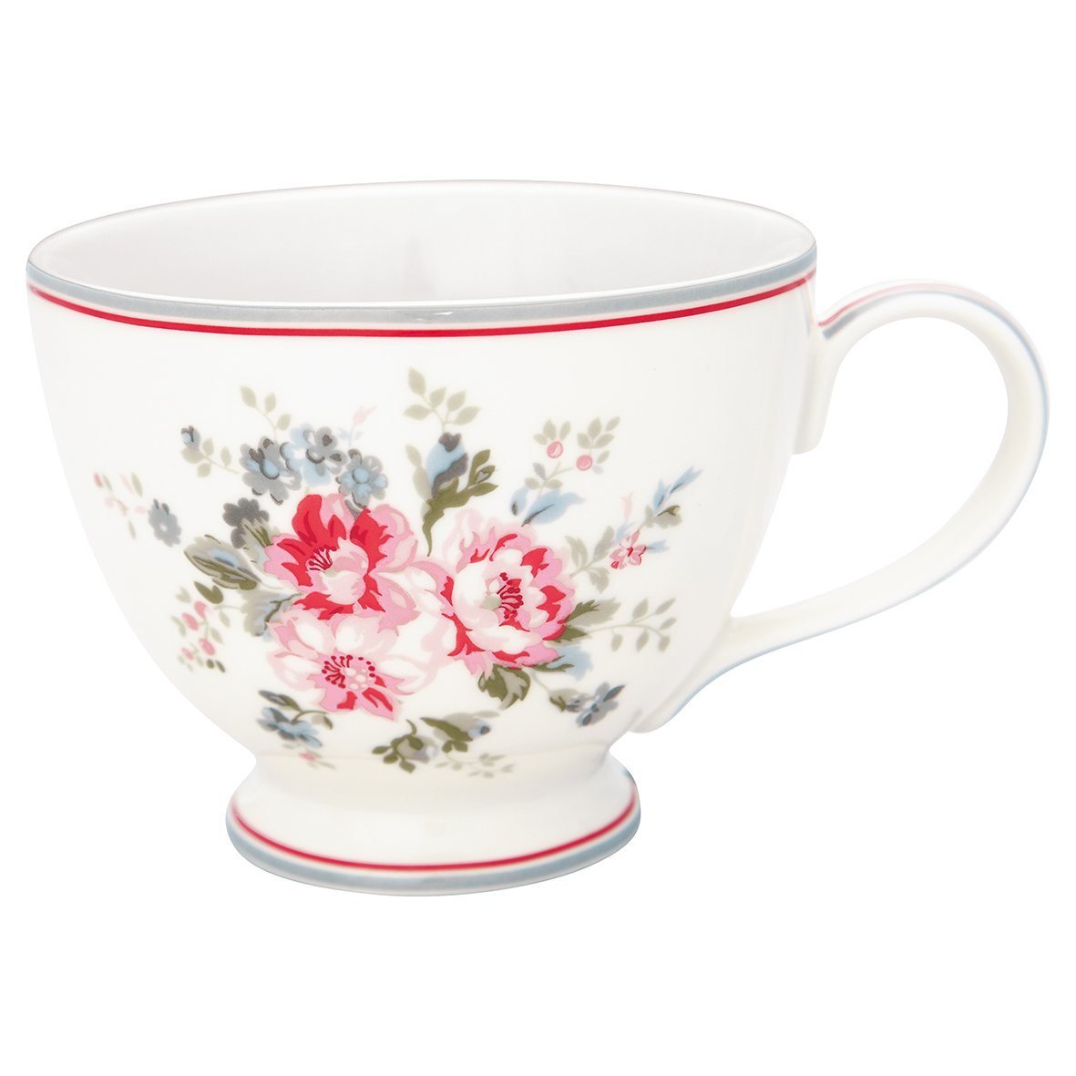 Greengate Teacup Elouise white Becher