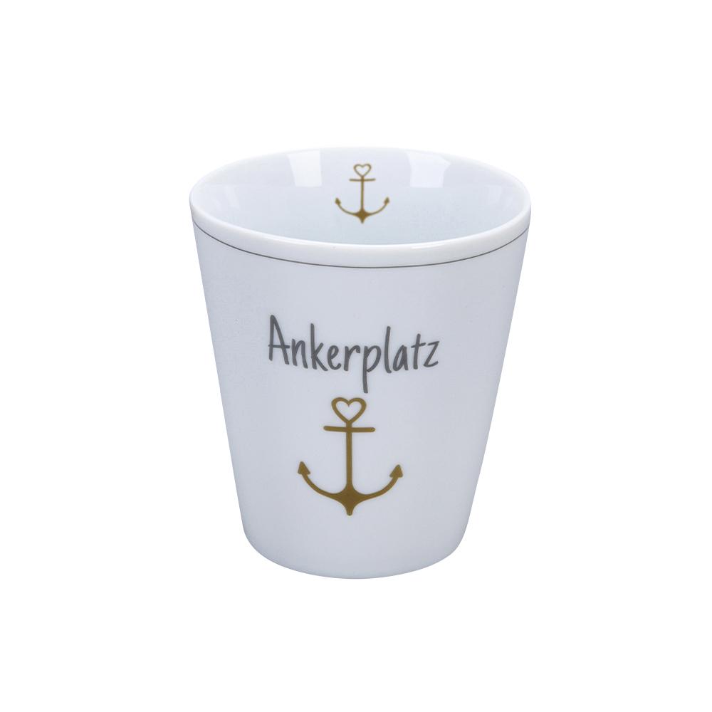 Krasilnikoff Happy Mug Ankerplatz Trinkbecher ohne Henkel