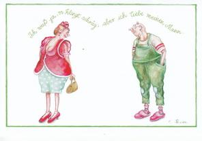 "Christina Thrän Postkarte ""Ich weiss es klingt schräg"""