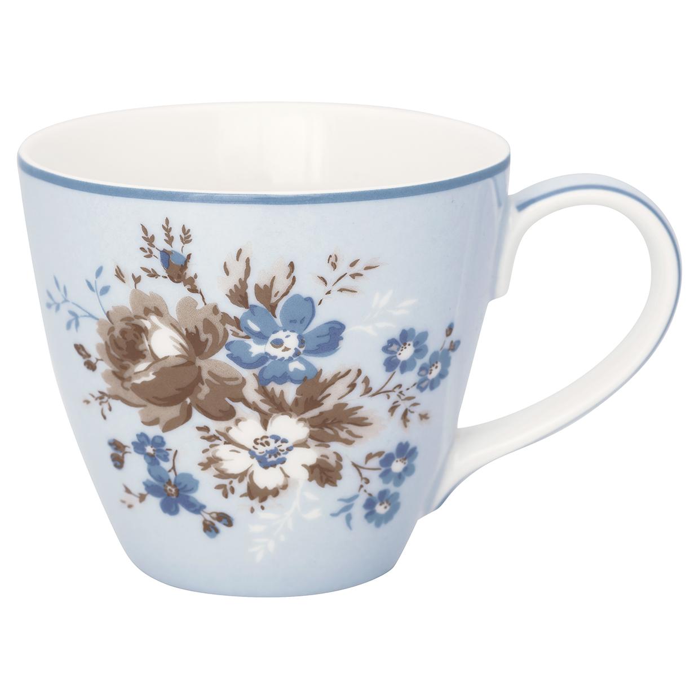 Greengate Becher Marie dusty blue Lattecup mit Henkel Limitierte Kollektion