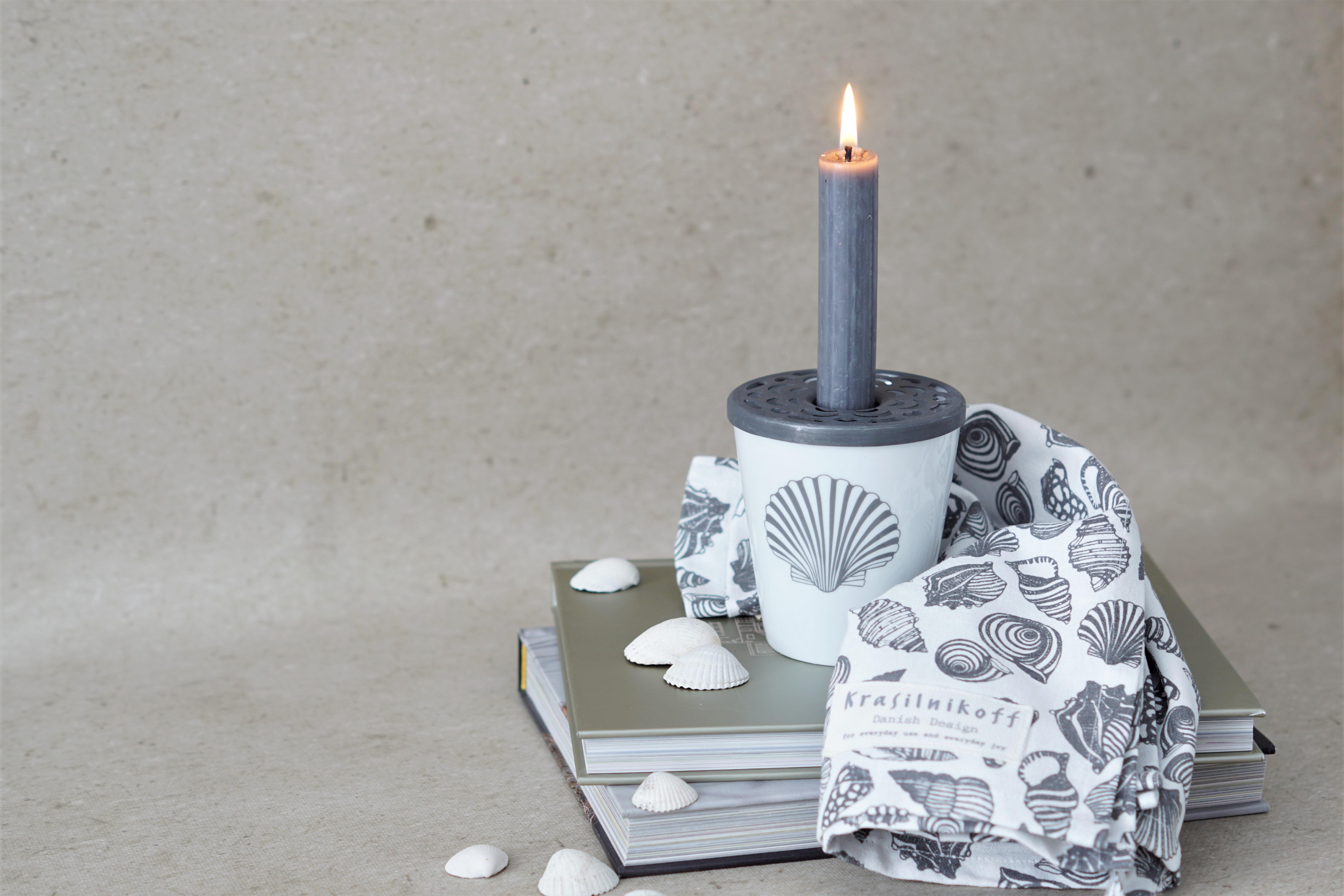 Krasilnikoff Kerzendeckel Zink für Happy Mugs 9 cm