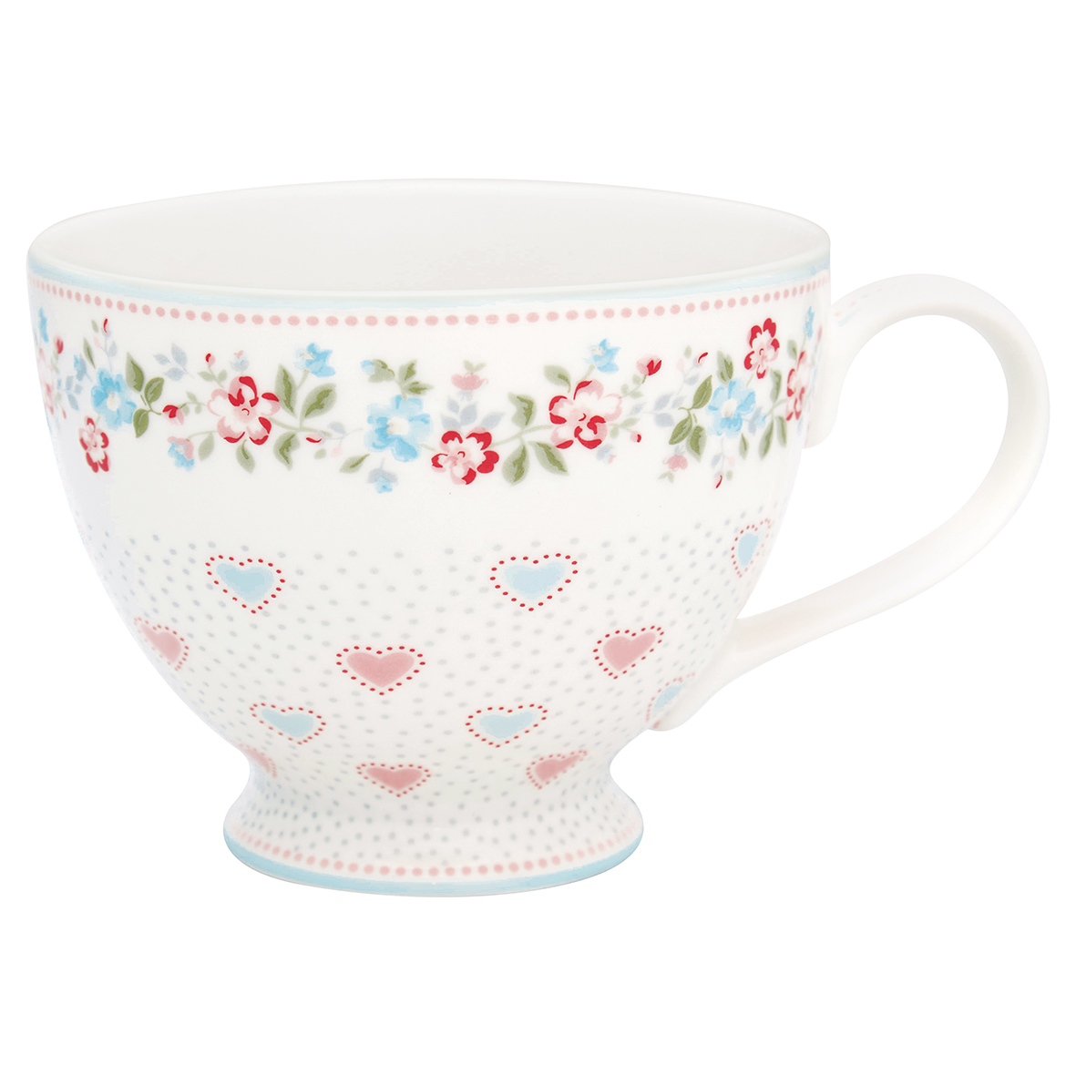 Greengate Teacup Sonia white Becher