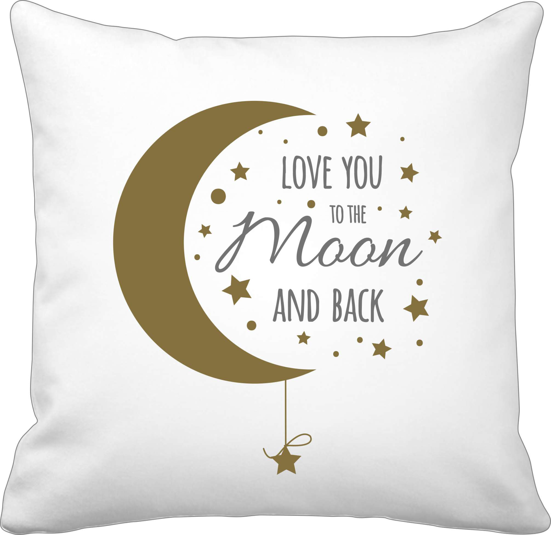 "Krasilnikoff Kissenbezug ""Love you to the moon…"" 50x50 cm"
