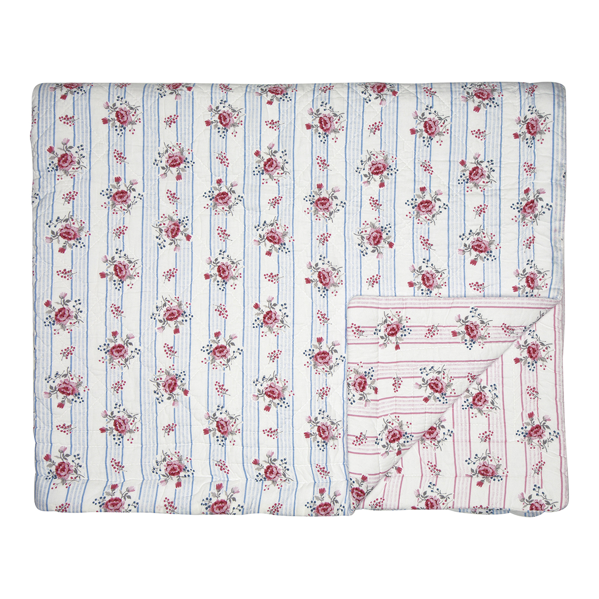 Greengate Quilt Fiona pale blue 250 x 260 cm Tagesdecke