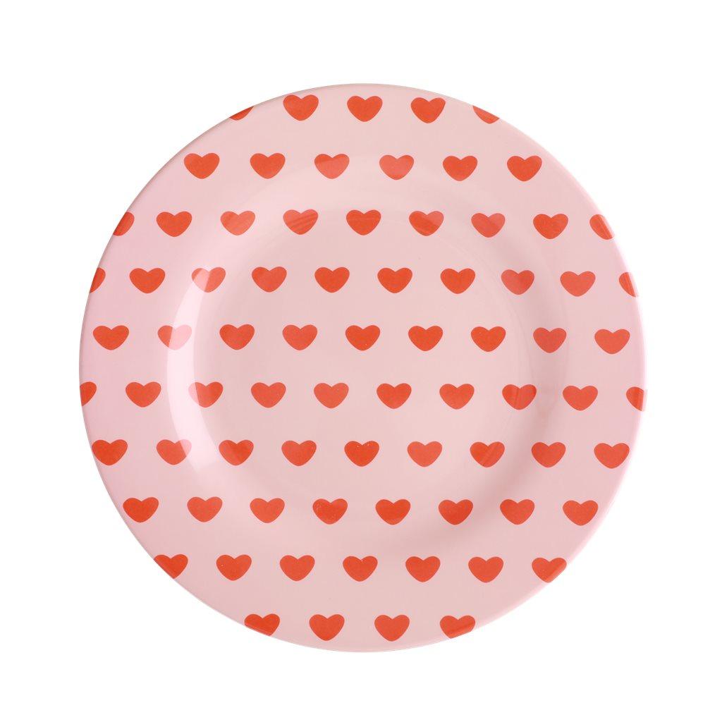 """RICE Melamin Teller """"Heart"""""""