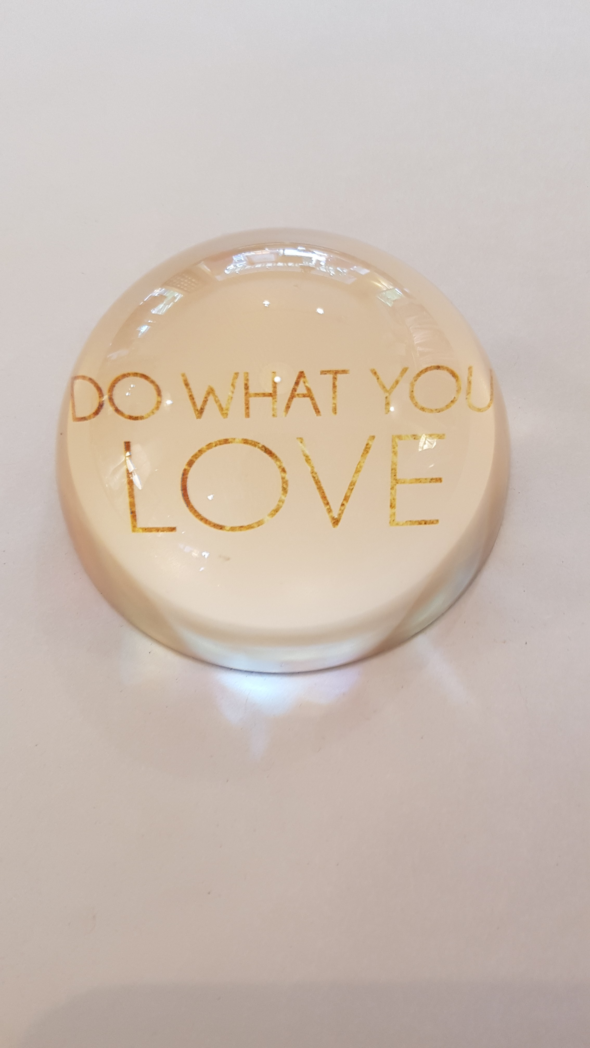 """Home Society Briefbeschwerer """"Do what you love"""""""