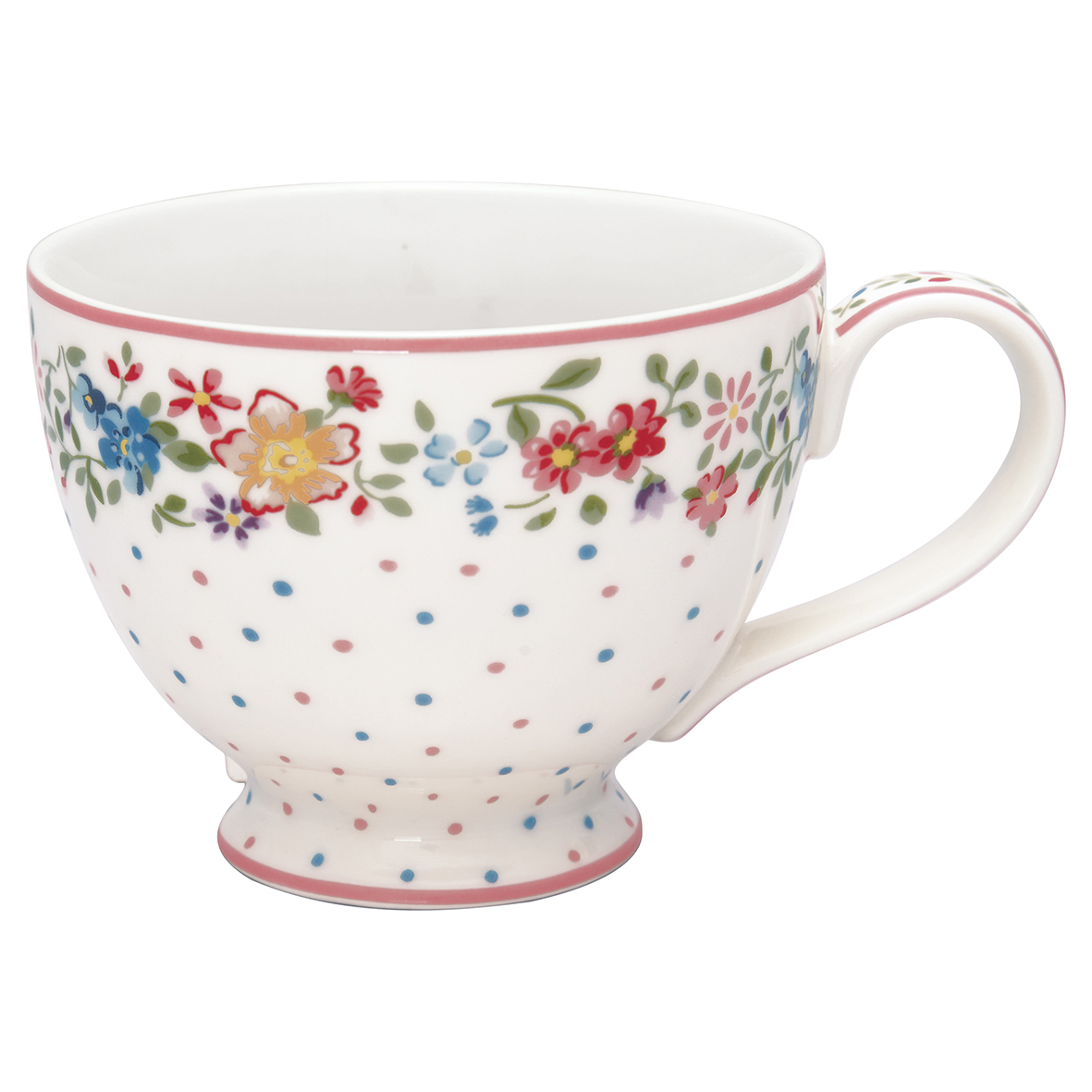 Greengate Teacup Belle white Becher