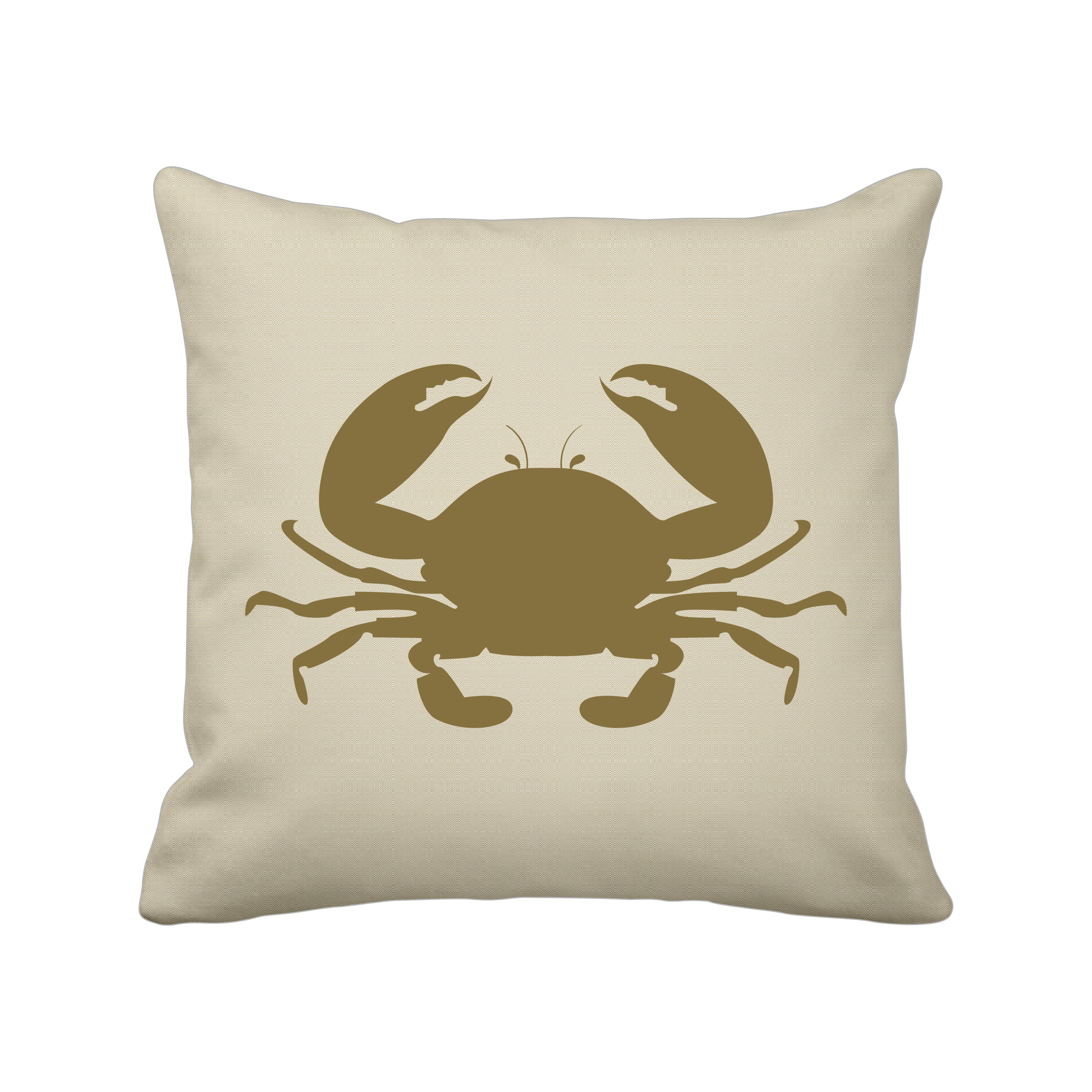 Krasilnikoff Kissenbezug Goldene Krabbe 50 x 50 cm