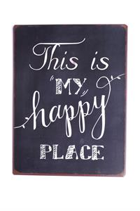 "La Finesse Metallschild ""This is my happy place"""