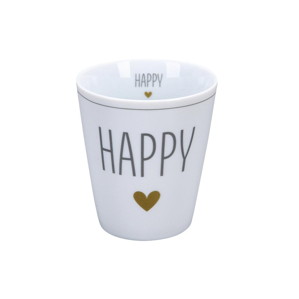 """Krasilnikoff Happy Mug """"Happy"""" Trinkbecher ohne Henkel"""