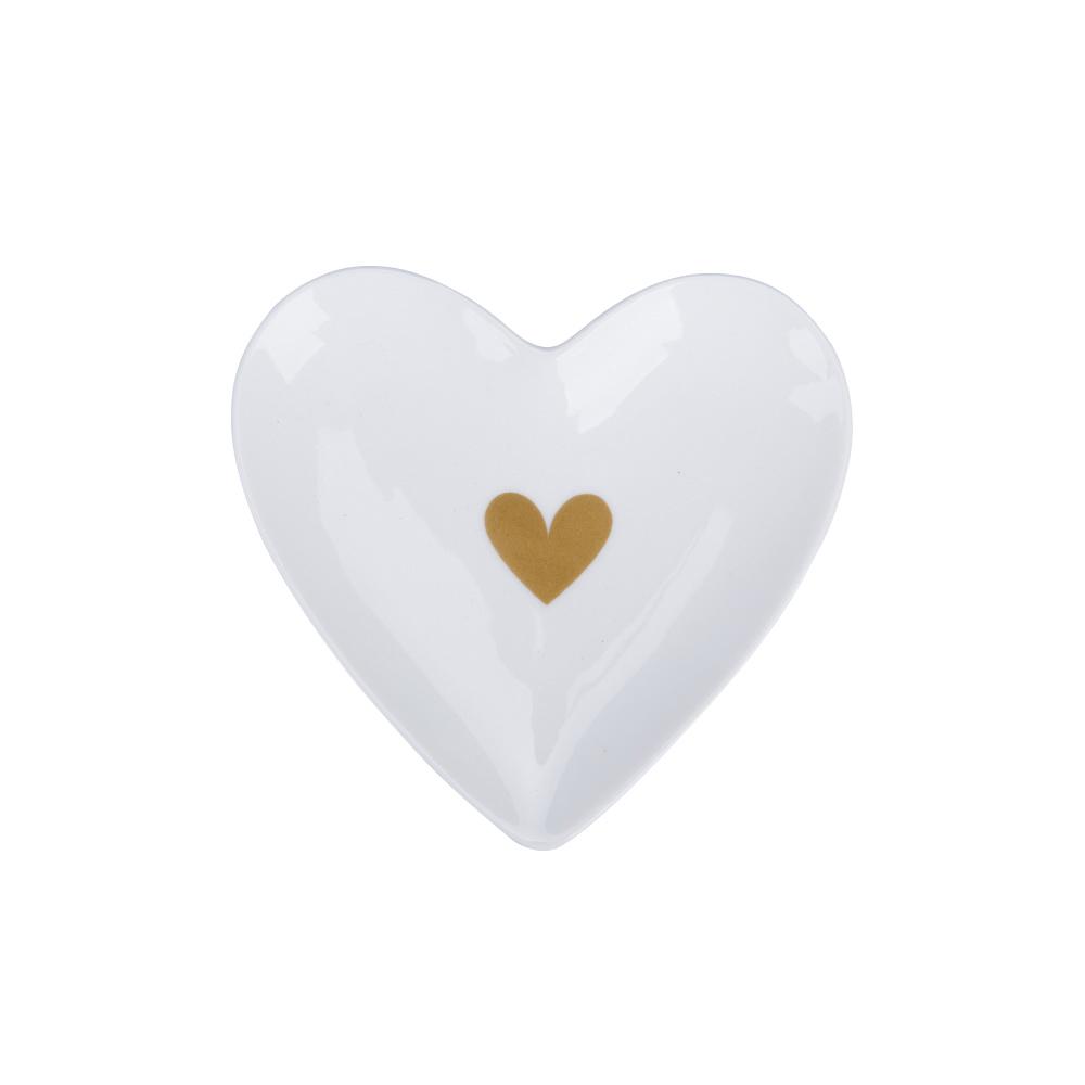 Krasilnikoff Teebeutelablage/Teesiebablage/Tablett Heart of Gold