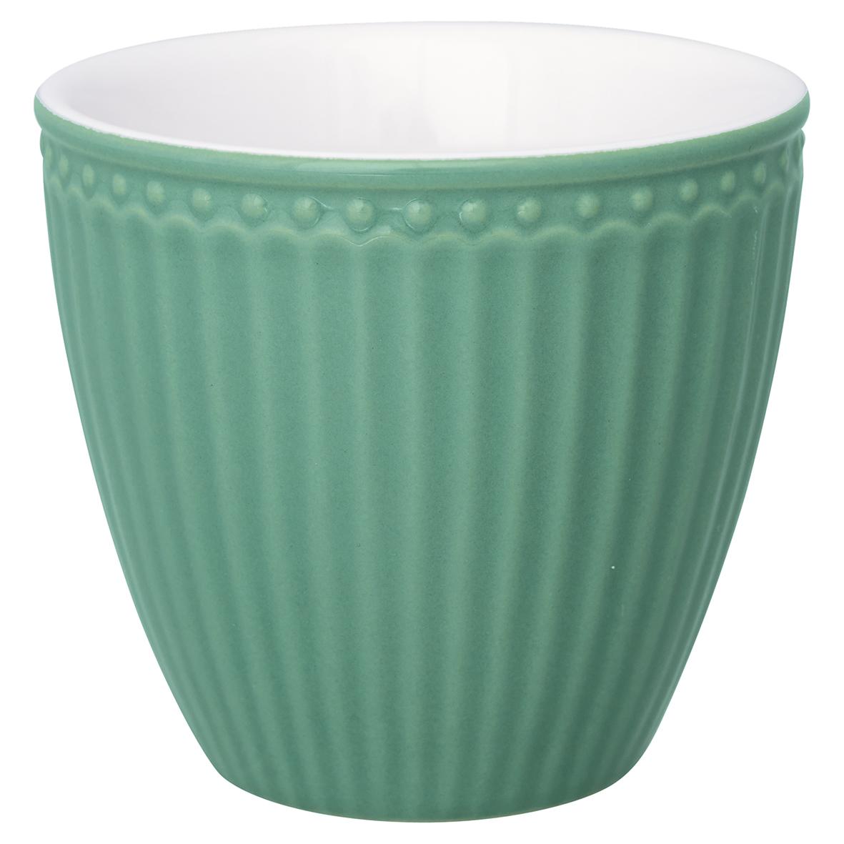 Greengate Lattecup Alice dusty green Everyday Kollektion Becher ohne Henkel