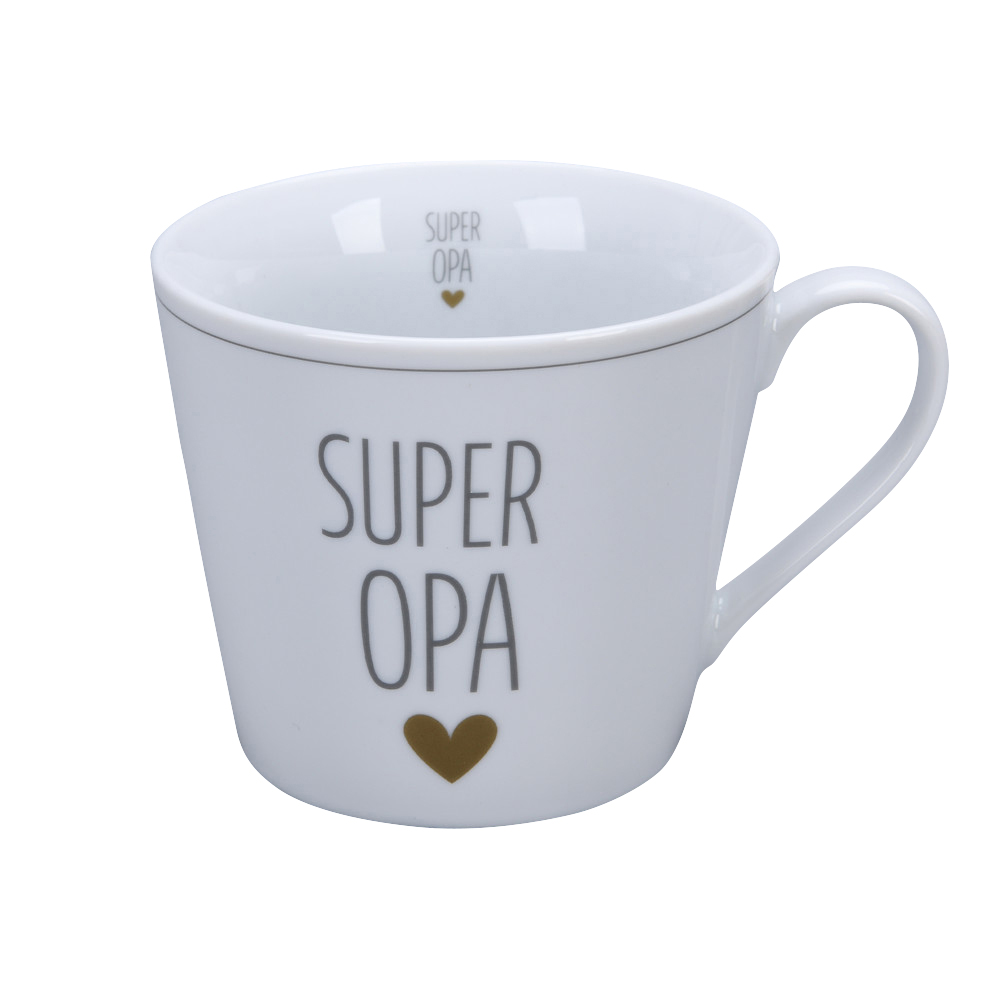 Krasilnikoff Happy Cup Super Opa Trinkbecher mit Henkel