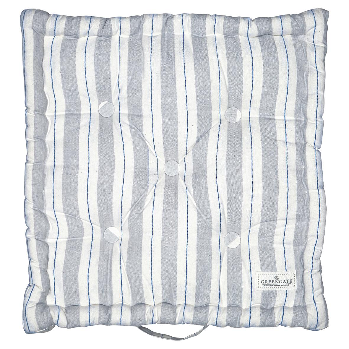 Greengate Sitzkissen Elinor pale grey 50 x 50 cm Matratzenkissen