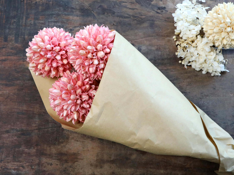 Chic Antique Fleur getrocknete Schneeballblume rosa 3 Stück in einem Bund